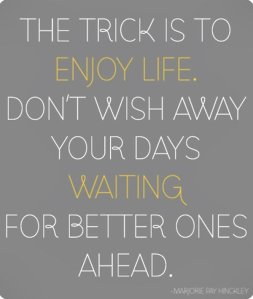 wekosh-quote-the-trick-is-to-enjoy-life-dont-wish-away-your-days-waiting-for-better-ones-ahead